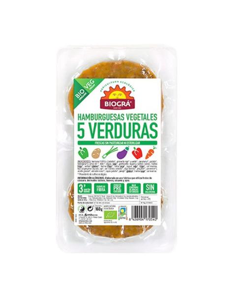 Hamburguesa Vegetal de 5 Verduras