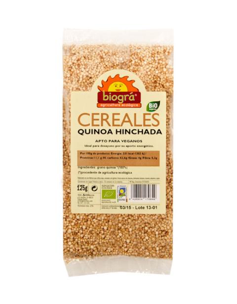 Quinoa hinchada sin azúcar y sin miel 125g