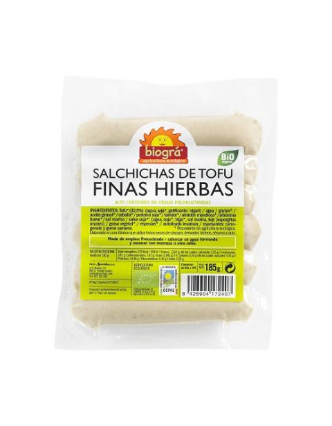 """Salchichas de Tofu """"Finas Hierbas"""""""