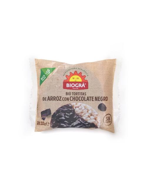Tortitas de Arroz con Chocolate Negro (monodosis)